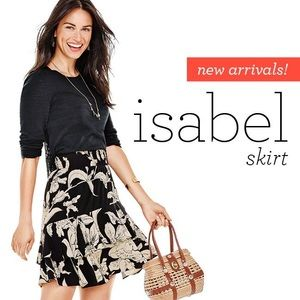 CABI Isabel Floral Ruffle Skirt Small